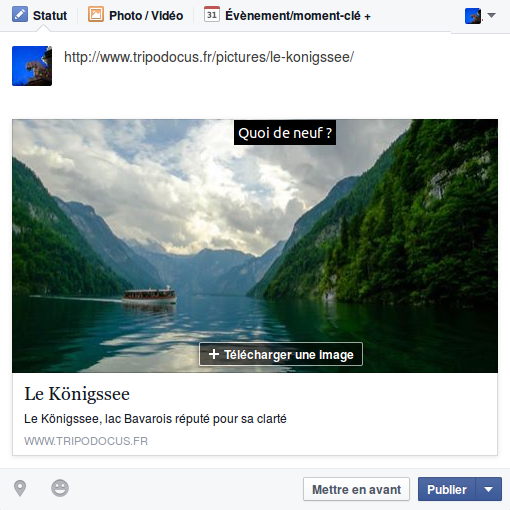Capture d'écran d'un statut facebook