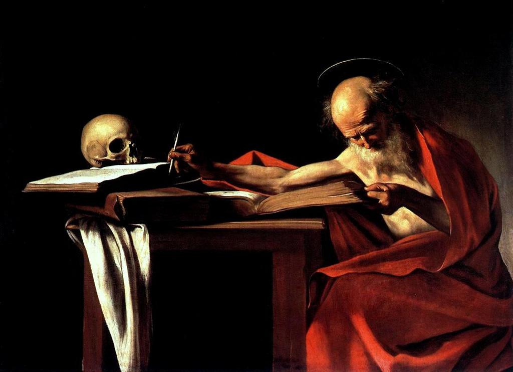 Saint Jérôme écrivant, tableau de Caravage