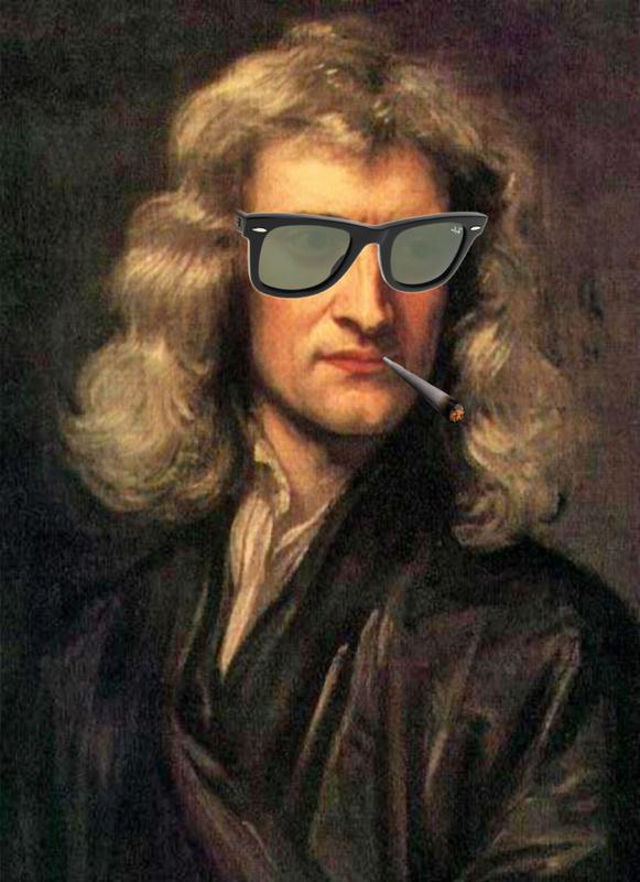 Isaac Newton a grave le swag