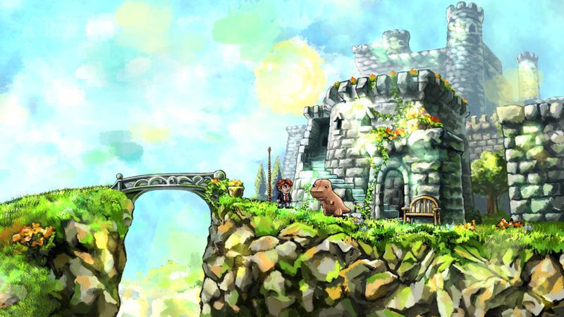Capture d'écran de fin de niveau du jeu Braid