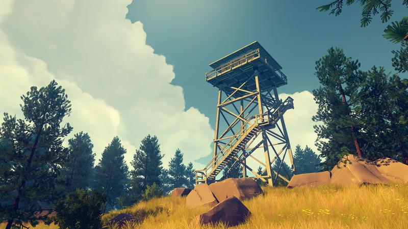 Capture d'écran du jeu Firewatch